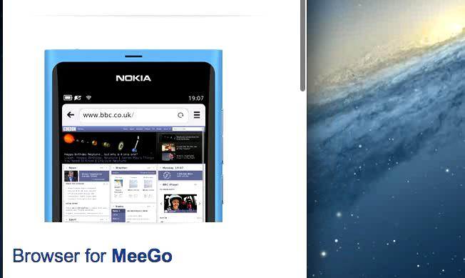 Responsive images on Meego website
